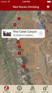 Browse Red Rocks via our interactive trail map and orient yourself easily.