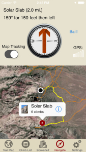 Red Rocks Climbing iPhone Navigation