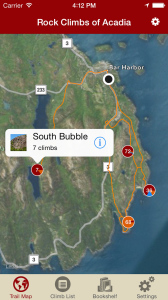 Explore Acadia rock climbing like it was meant to be explored, via our interactive trail map.