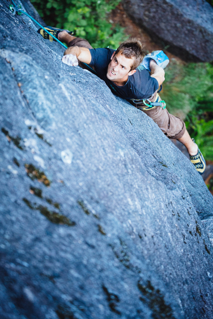 Michal Rynkiewicz won't be forked of Spooner (11d) Index, WA, World's Best Rock Climbing. Photo Credit: Matt Van Biene