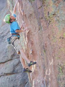 A young Gordy on Like Father Like Son - 5.12d - Passageway Wall, Devil's Head Rock Climbing