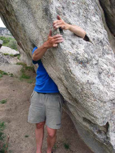 Big climbing holds at City of Rocks