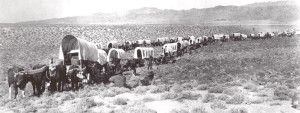 Wagon Train through City of Rocks circa 1855 - City of Rocks Climbing