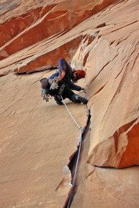 Flakes of Wrath Photo By: Adam Winters - Moab Rock Climbing