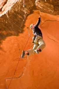 Ivan perevozov on Horizontal Mambo Photo By: Michael Loh - Moab Rock Climbing