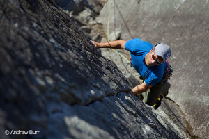 Roger Strong, Cold Comfort 5.9, Smoke Bluffs, Squamish, BC