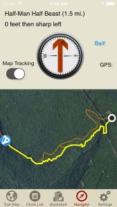 rakkup guides you turn by turn to your climb then shows you a picture when you arrive. Awesome.