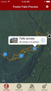 Explore Foster Falls climbing via our interactive trail map.