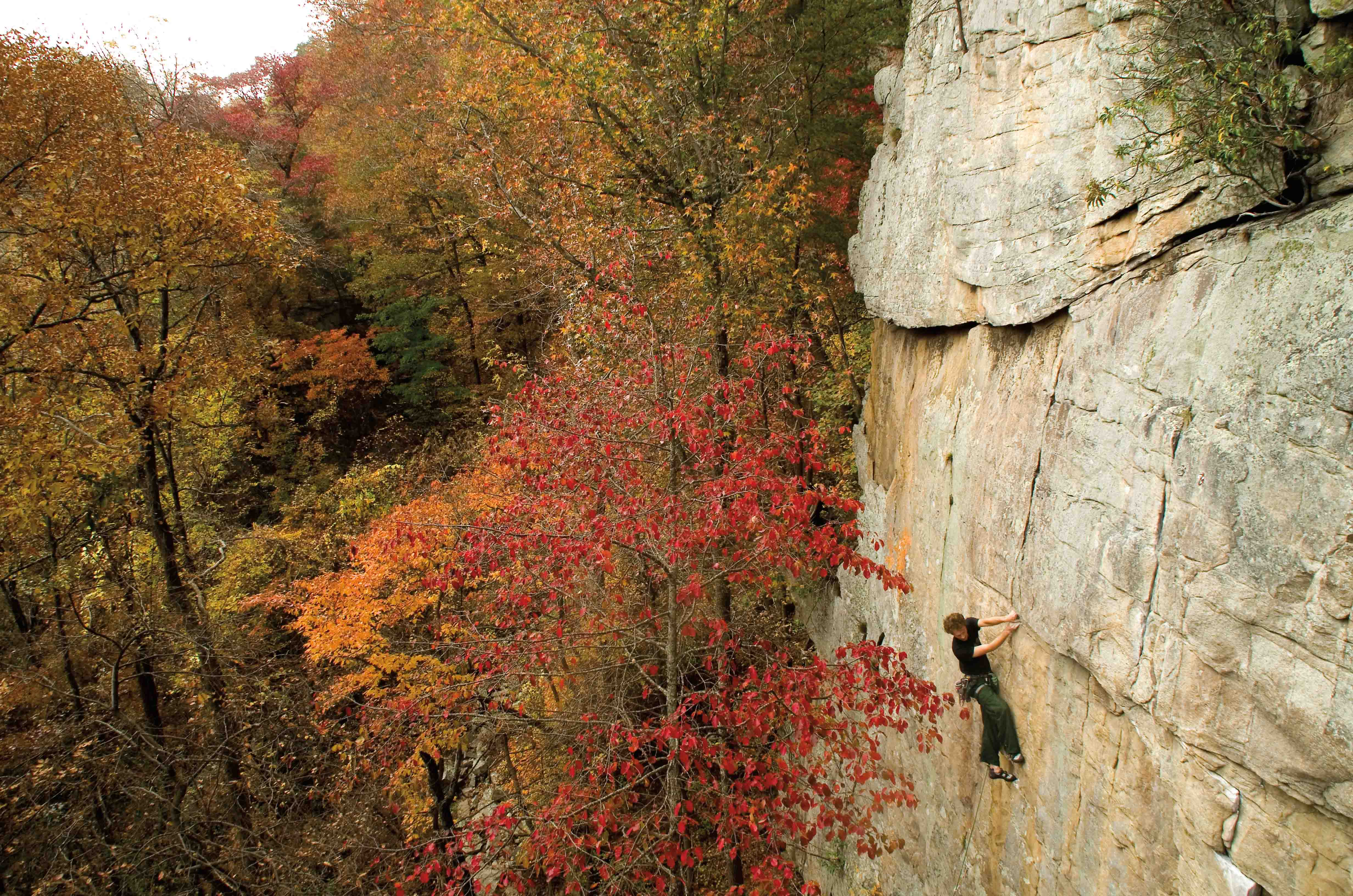 Foster Falls Rock Climbing History