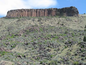Trout Creek Main Wall as seen from the Deschutes.