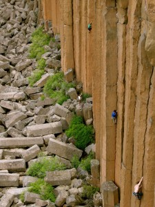 Climbers on the Main Wall.