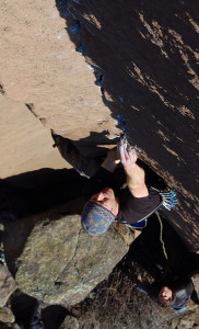 Jeff Wenger on Reservation Blues (5.12+)