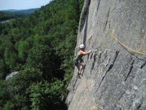 Martine Schaer on P1 of Freedom Flight (5.10c).jpg