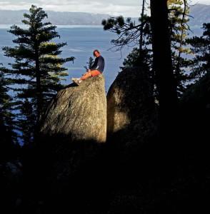 Lake Tahoe bouldering guidebook author Dave Hatchett