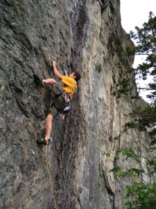 Eric Seaton at the 82 Crag