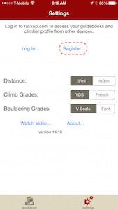 settings register iphone