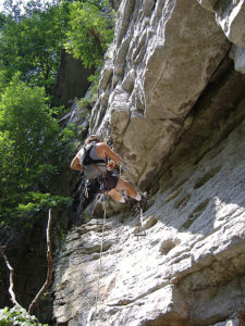 Smoke Hole Canyon: Reed's Creek Rock Climbing Guidebook Author Mike Gray on Leviathon