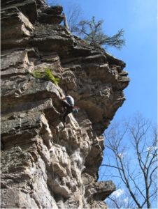 Brian Brydges, cruising through a sweet April day on Little Purple Flowers (5.9)