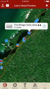 Explore Lion's Head rock climbing via our interactive trail map.