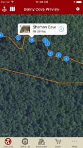 Explore Denny Cove climbing via our interactive trail map.