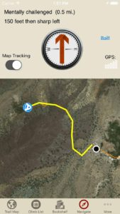 rakkup guides you car to crag then shows you a picture when you arrive. Awesome.