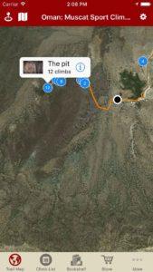 Explore Oman: Muscat sport climbing via rakkup's interactive trail map.