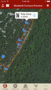 Explore Elizabeth Furnace climbing via our interactive trail map.