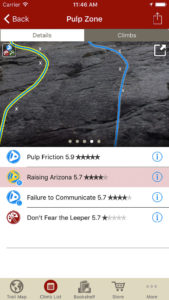 Tap on the climb name, see where it's located in the image. Tap on a climb badge, discover what climb it is. So nice…