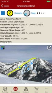 Interactive photos in the run description give you tapable information of your ski run.