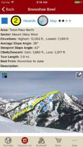 Interactive photos in the run description give you tapable information of your ski run.