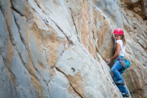 Natasa Silec on The Bulge 6c (5.11a) Kubra Canyon Photo credit: Miguel Willis