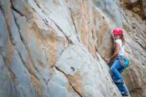 Natasa Silec on The Bulge 6c (5.11a) Kubra Canyon Photo credit: Miguel Willis