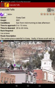 Use Jason Nelson's beta to send your next Ouray Ice project.