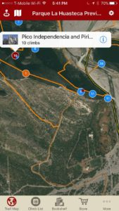 Explore Parque La Huasteca's climbing via our interactive trail map.