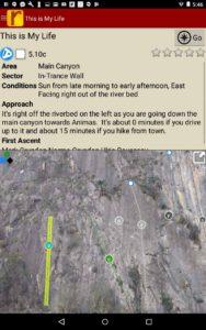 Helpful route descriptions.