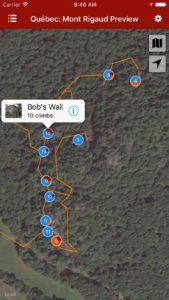 Explore Mont Rigaud rock climbing via our interactive trail map.