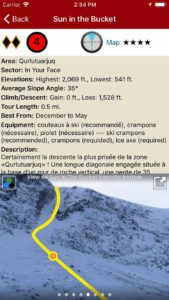 Descent details with useful topo images.