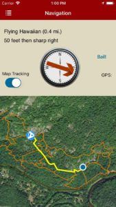 rakkup guides you car to crag then displays your destination's picture when you arrive.