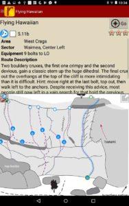 Detailed climb descriptions and hand drawn topo maps.