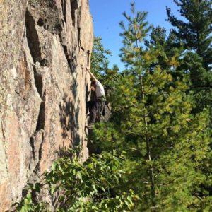 Peter Gernassnig on his climb Samson, 5.11b.