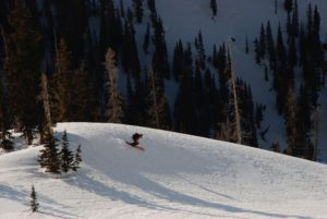 Skier Kevin Krill finds a natural terrain park