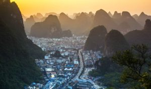 Overlooking Yangshuo Town, Photo: David Kaszlikowski