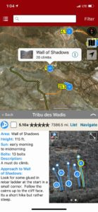 Explore Oman: Sharaf Al Alameyn sport climbing via rakkup's interactive trail map