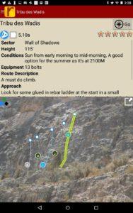 Detailed beta and topo photos for every climb.
