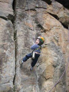 Rohan Badeau swinging on Toquerre 5.8 (Proximus)