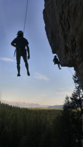 Columbia Valley Rock Climbing get together after work. Photo credit Jack Caldbick