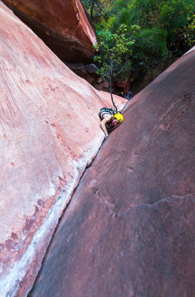 Ana Pautler on Wind of the Valley, possibly the best 5.10 in Liming. Photo Danial Harata