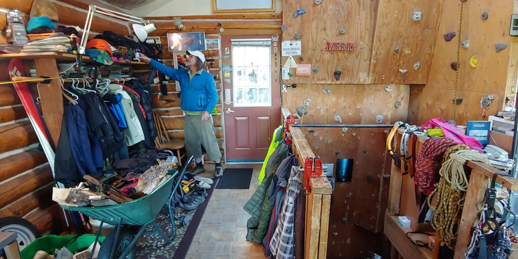 Paul and his Cozy Northern Climber's Cabin.
