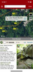 Explore Horse Pens 40 bouldering via an interactive trail map.