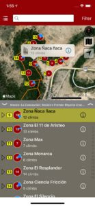 Explore La Concepcion climbing via an interactive trail map.